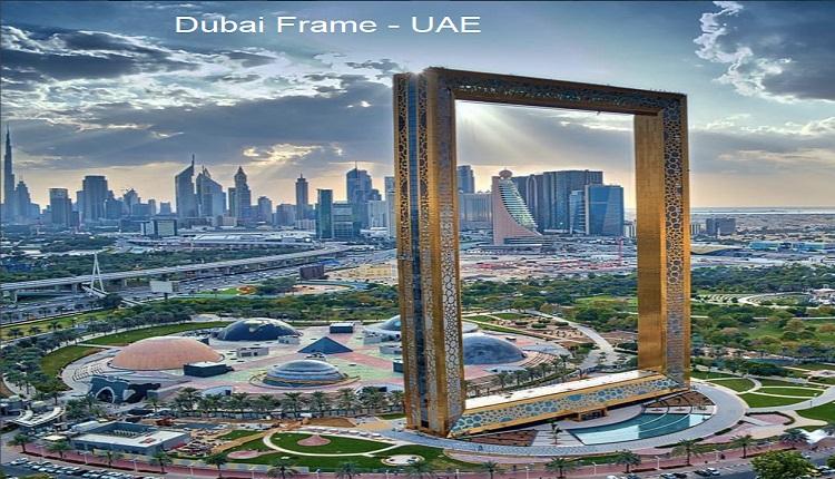 Dubái Frame ciudad de Dubái UAE